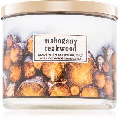 Bath & Body Works Mahogany Teakwood Scented Candle  I.