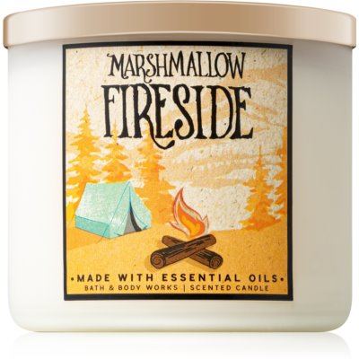 Bath & Body Works Marshmallow Fireside illatos gyertya  411 g II.
