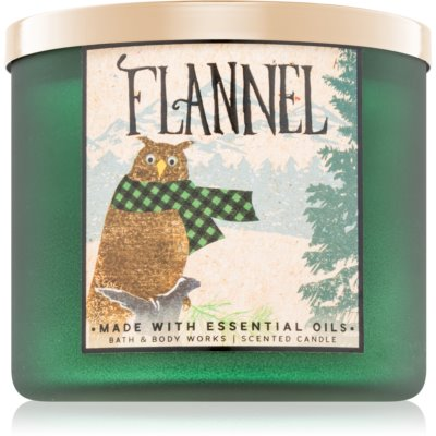 Bath & Body Works Flannel lumânare parfumată   II.
