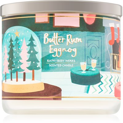 Bath & Body Works Butter Rum Eggnog Scented Candle