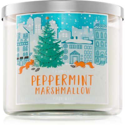 Bath & Body Works Peppermint Marshmallow ароматна свещ  411 гр.