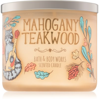 Bath & Body Works Mahogany Teakwood doftljus IV.