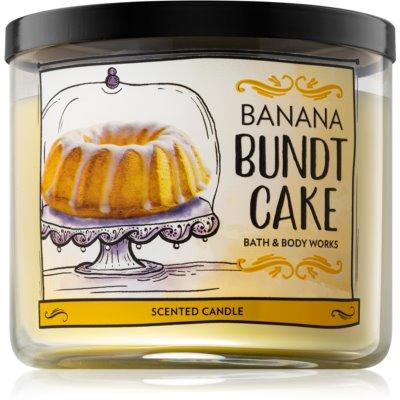 Bath & Body Works Banana Bundt Cake vonná svíčka 411 g