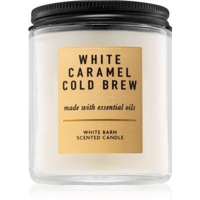 Bath & Body Works White Caramel Cold Brew αρωματικό κερί Ι. 198 γρ