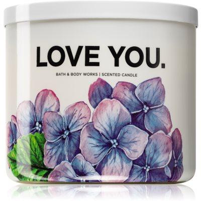 Bath & Body Works Fresh Cut Lilacs duftkerze  (Love You)