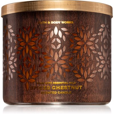 Bath & Body Works Spiced Chestnut vela perfumada