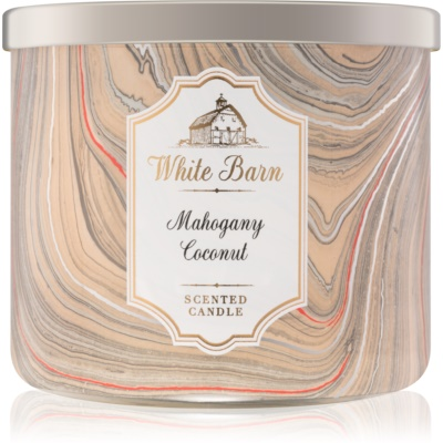 Bath & Body Works White Barn Mahogany Coconut ароматна свещ    I.
