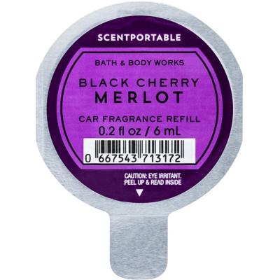 Bath & Body Works Black Cherry Merlot aроматизатор за автомобил  резервен пълнител
