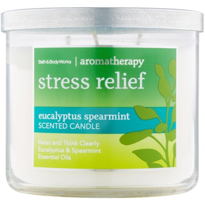Bath & Body Works Stress Relief Eukalyptus Spearmint vonná sviečka