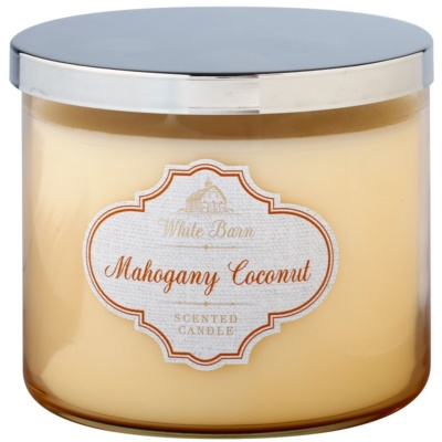 Bath & Body Works White Barn Mahogany Coconut vonná svíčka