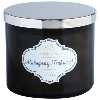 Bath & Body Works White Barn Mahogany Teakwood illatos gyertya