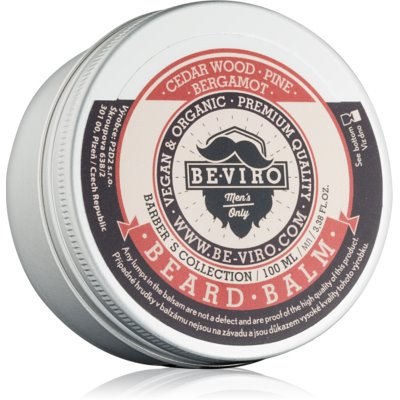 Be-Viro Men's Only Cedar Wood, Pine, Bergamot Beard Balm