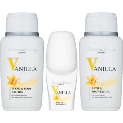 Bettina Barty Classic Vanilla Geschenkset III.  Dusch - und Badegel 150 ml + Deo-Roller 50 ml + Körperlotion 150 ml + Kosmetiktasche 1 ks