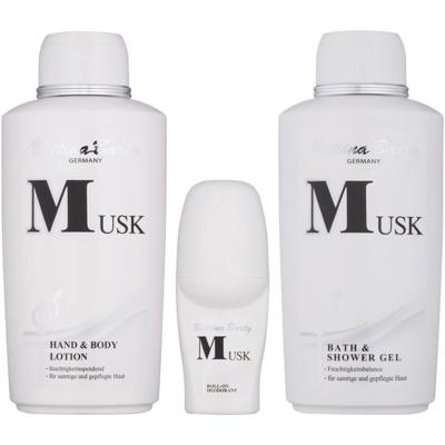 Bettina Barty Classic Musk dárková sada I.  tělové mléko 500 ml + sprchový gel 500 ml + deodorant roll-on 50 ml