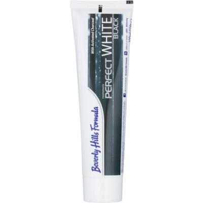 Beverly Hills Formula Perfect White Black pasta de dentes branqueadora com carvão ativo para hálito fresco