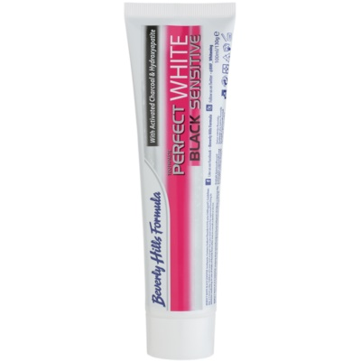 Beverly Hills Formula Perfect White Black Sensitive Whitening Toothpaste with Activated Charcoal For Sensitive Teeth