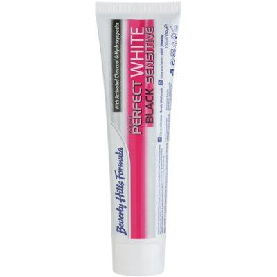 Beverly Hills Formula Perfect White Black Sensitive избелваща паста за зъби с активен въглен за чувствителни зъби