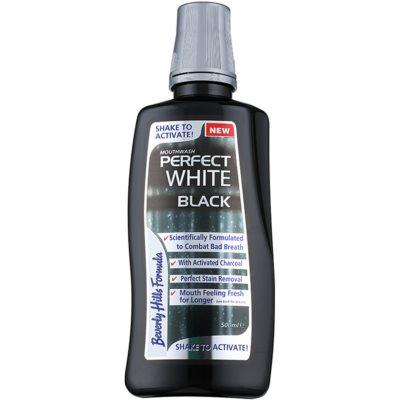 Beverly Hills Formula Perfect White Black избелваща вода за уста с активен въглен за свеж дъх