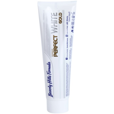 Beverly Hills Formula Perfect White Gold dentifrice blanchissant antibactérien avec particules d'or véritables