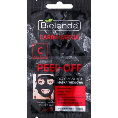 slupovací pleťová maska s aktivním uhlím pro smíšenou a mastnou pleť