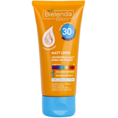 Bielenda Bikini Matt Look Protective Tinted Moisturiser for Combination to Oily Skin SPF 30