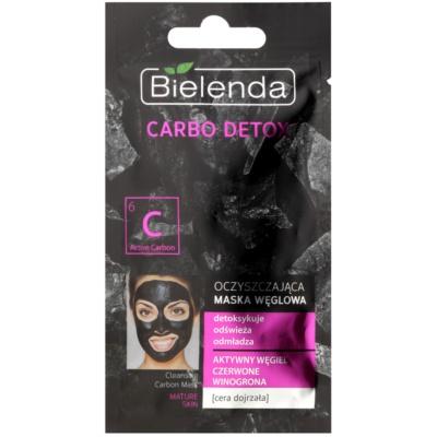 čistilna maska z aktivnim ogljem za zrelo kožo