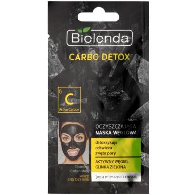 reinigende Maske mit Aktivkohle für fettige und Mischhaut