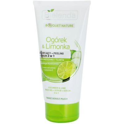 gel de limpeza 3 em 1  para pele mista e oleosa