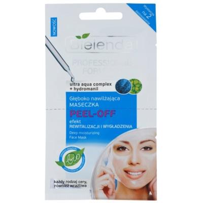 maschera in gel peel-off effetto idratante