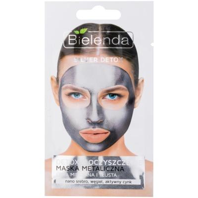 Bielenda Metallic Masks Silver Detox razstrupljevalna in čistilna maska za mastno in mešano kožo