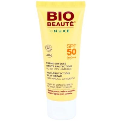 creme protetor mineral para as áreas do rosto e sensíveis SPF 50