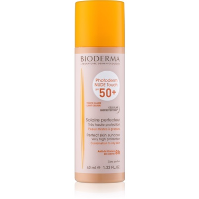Bioderma Photoderm Nude Touch Tinted Fluid for Combination to Oily Skin SPF 50+