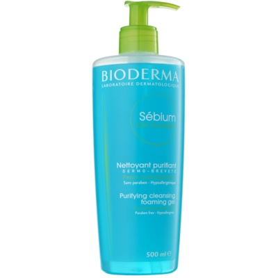Bioderma Sébium Gel Moussant Cleansing Gel For Mixed And Oily Skin
