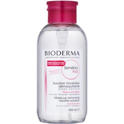 micelarna voda za občutljivo kožo z dozirno pumpico