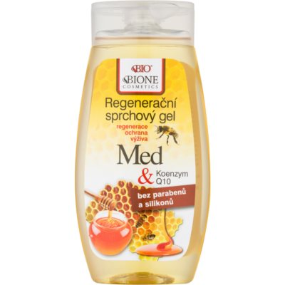 Bione Cosmetics Honey + Q10 Regenerating Shower Gel