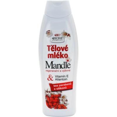 hranilno mleko za telo z mandljevim oljem