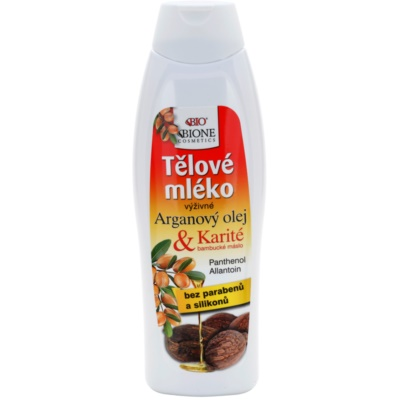 Bione Cosmetics Argan Oil + Karité výživné tělové mléko
