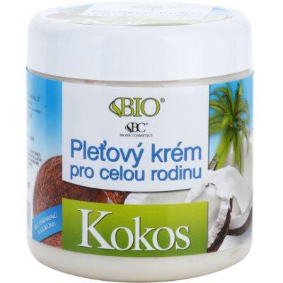 crema facial para toda la familia con coco