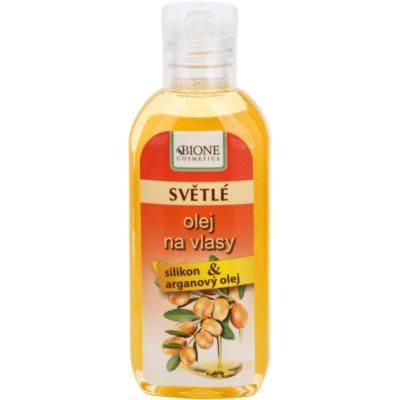 olej pro světlé odstíny vlasů
