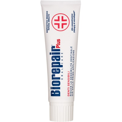 Biorepair Plus Sensitive pasta restauradora del esmalte dental para dientes sensibles