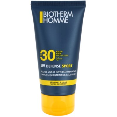 Biotherm Homme UV Defense Sport napozó fluid az arcra SPF 30