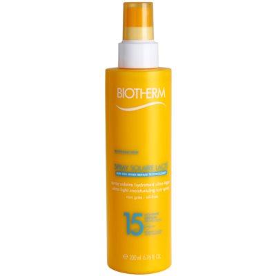 spray abbronzante idratante SPF 15