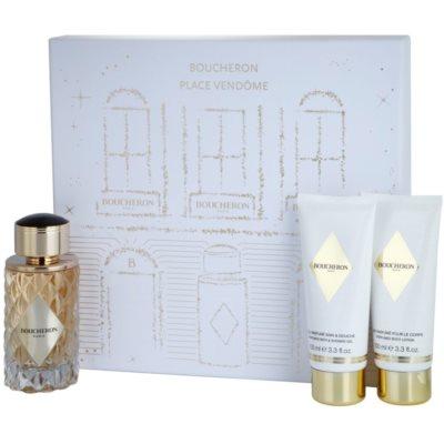 Boucheron Place Vendôme coffret III. Eau de Parfum 100 ml + gel de duche 100 ml + leite corporal 100 ml