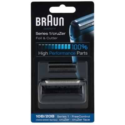 Braun CombiPack Series1/cruZer 10B/20B láminas de recambio + loque de cuchillas de recambio