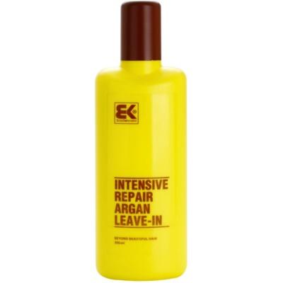 acondicionador sin aclarado con keratina y aceite de argán
