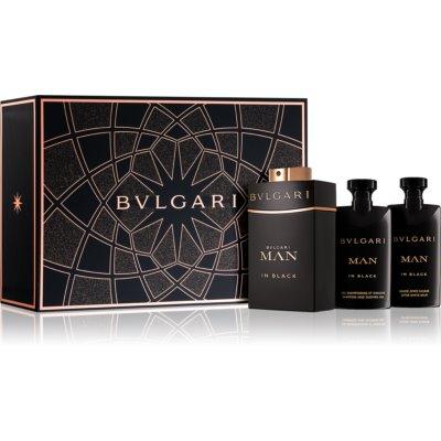Bvlgari Man in Black poklon set IX.  parfemska voda 60 ml + balzam poslije brijanja 40 ml + šampon i gel za tuširanje 40 ml