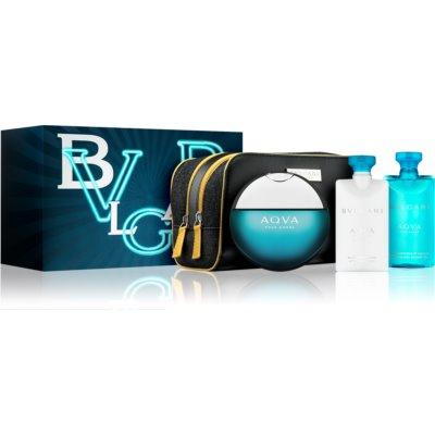 Bvlgari AQVA Pour Homme coffret XVII. Eau de Toilette 100 ml + gel de duche 75 ml + bálsamo after shave 75 ml + bolsa de cosméticos