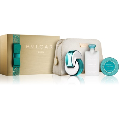Bvlgari Omnia Paraiba darilni set I. toaletna voda 65 ml + milo 75 g + losjon za telo 75 ml + kozmetična torbica