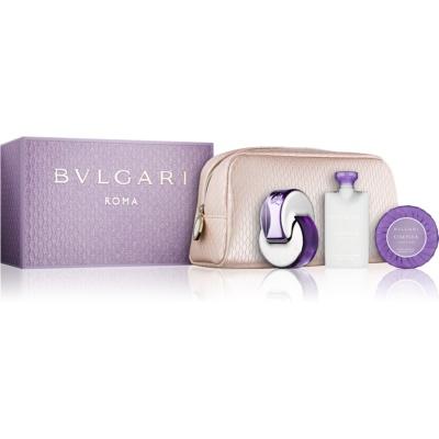 Bvlgari Omnia Amethyste coffret cadeau VII.  eau de toilette 65 ml + lait corporel 75 ml + savon 75 g + trousse de maquillage 1 ks