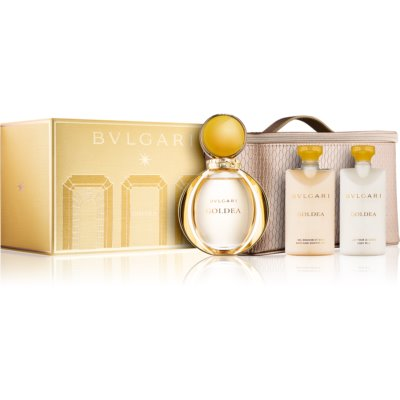 Bvlgari Goldea set cadou II. Eau de Parfum 90 ml + Loțiune de corp 75 ml + Gel de dus 75 ml + geanta cosmetice